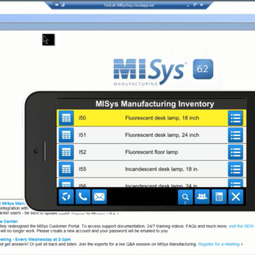 Remotely check MISys Manufacturing Inventory from an iPhone
